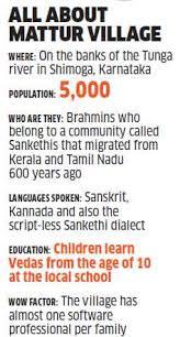 karnataka s mattur a sanskrit speaking village almost one it