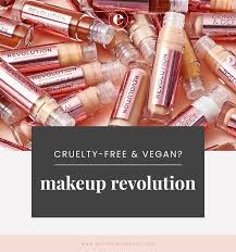 makeup revolution free vegan