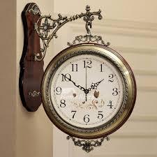 living room wall clocks wood metal