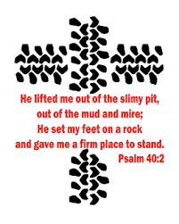 Jeep Two Color Tire Tracks Decal With Verse Psalm 40 2 Vinyl Sticker Decal