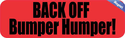 10 X3 Red Back Off Bumper Humper Magnet Decal Vinyl Magnetic Magnets Decals Window Vinyl Window Stickers Decals Stickers