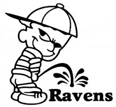 Pee On Ravens Car Or Truck Window Decal Sticker Or Wall Art All Time Auto Graphics