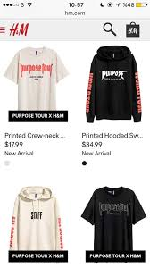 h m selling purpose tour merchandise