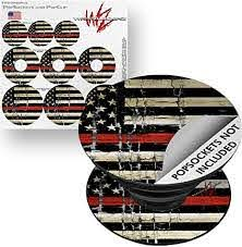 Amazon Com Decal Style Vinyl Skin Wrap 3 Pack For Popsockets Painted Faded And Cracked Red Line Usa American Flag Popsocket Not Included By Wraptorskinz Everything Else