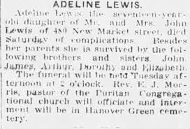 Obituary for ADELINE LEWIS - Newspapers.com