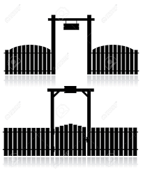 Black Fence With Gate Isolated On White Royalty Free Cliparts Vectors And Stock Illustration Image 7644580