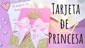 Tarjeta De Invitacion Para Fiesta De Princesa Karol Youtube