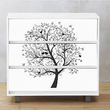 Amazon Com Alwayspon Self Adhesive Dresser Sticker Peel And Stick Furniture Stickers Decals Removable Furniture Skin 002 Malm Home Kitchen
