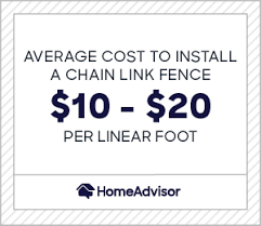 2020 Chain Link Fence Costs Installation Price Per Foot Homeadvisor
