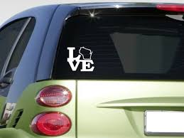 Love Wisconsin State F316 Sticker Decal Window Football Basketball For Sale Online