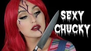 y chucky halloween makeup tutorial