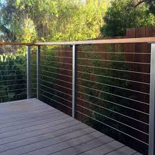 China Modern Balcony Railing Design Stainless Steel Cable Railing Wire Balustrade China Cable Railing Cable Deck Railing