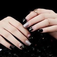 24pcs black silver star nails frame