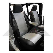 front seat covers black gray rt off road