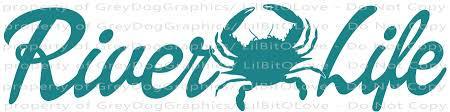 River Life With Crab In The Center Vinyl Decal Lilbitolove