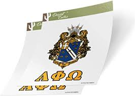 Amazon Com Alpha Phi Omega Letter 2 Pack Decal Greek For Window Laptop Computer Car Apo Crest Sticker