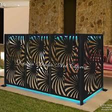 Freestanding Modular Metal Privacy Screen Fence Wall Art Etsy