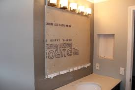 diy mirror frame with glass mosaic tile