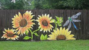 Budget101 Awesome Sunflower Fence Art By Lori Gomez Art Facebook