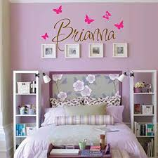 Amazon Com Personalized Monogram Kids Wall Decals Girls Wall Decal Name Vinyl Lettering Baby Girl Nursery Wall Decal Brianna Handmade