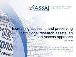 Increasing access to and preserving institutional research assets: an…