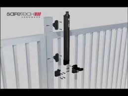 How To Install A Safetech Pool Gate Latch Youtube