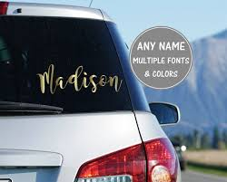 Cursive Name Sticker For Car Calligraphy Decal Personalized Etsy