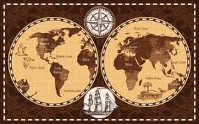 old world map free vector art 14 105