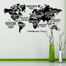 Removable World Map Compass Wall Sticker Decal Vinyl New Art Sticker Home Decor