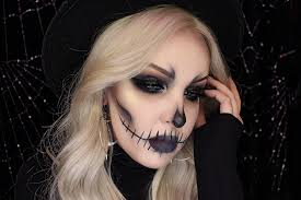 easy glam skeleton makeup how to