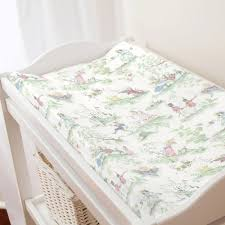 nursery rhyme toile sage nursery décor