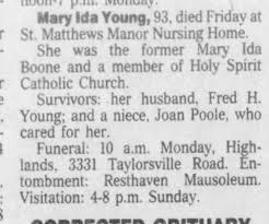 Mary Ida Young obituary - Newspapers.com