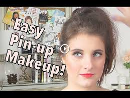 easy pin up makeup tutorial inspired by