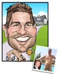 personalised best man gift caricature