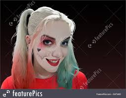 harley quinn makeup ilration