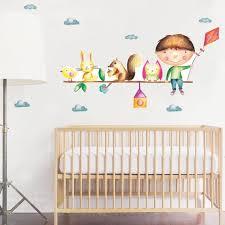 Baby Room Decor Tree Wall Decal Nursery Art Woodland Nursey Etsy