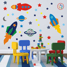Space Rockets Wall Stickers Wall Stickers Wall Stickers Bedroom Diy Wall Stickers