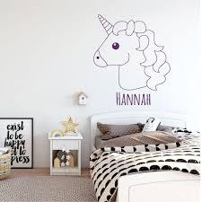 Amazon Com Unicorn Wall Decal Emoji Vinyl Sticker Decor For Girl S Bedroom Playroom Or Bathroom Kids Home Decorations Handmade