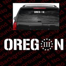 Oregon 3 Percenter 3 Sticker Car Windows Decal Vinyl 2a Ccw Gun Rights Fa057 Ebay