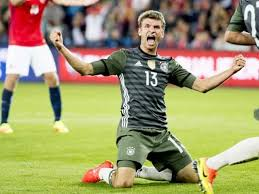 muller scores twice as germany brush