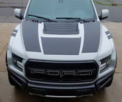 Product 2017 Ford Raptor F 150 Dual Hood Graphic Vinyl Stripe Decal Predator Svt Rph 002