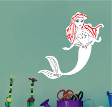 Mermaid Dry Erase Wall Decal Dry Erase Wall Decal Murals Primedecals