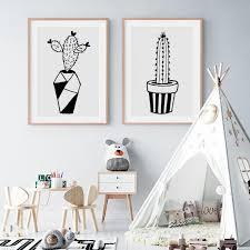 Nordic Cactus Kids Room Nursery Wall Art Decoration Home Decor Tiptophomedecor