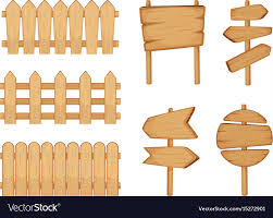 signs with wood texture vector image