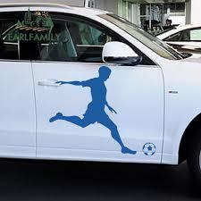 Earlfamily 48cm X 38 4cm 2x Soccer Ball Football Player Boys Kid Room Decor Wall Decal Art Sticker Hood Decals Car Stickers Car Stickers Aliexpress