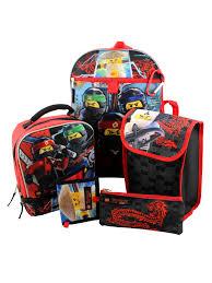 Lego Ninjago 6 piece Backpack and Lunch Box School Set LGKIT100 ...