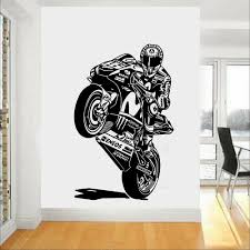 Motorcycle Wall Sticker Racing Driver Helmet Motorcyclists Wall Decal Vinyl Waterproof For Kids Room Boys Bedroom Decor X108 T200601 Best Wall Stickers Big Stickers For Wall From Xue10 11 59 Dhgate Com