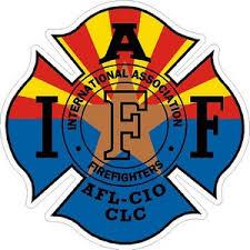 Arizona Iaff International Association Firefighters Vinyl Sticker At Sticker Shoppe