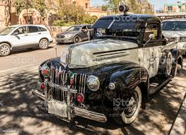 Vintage Ford Police Pickup Truck With Viejitos Car Club Decal In Historic Old Town Albuquerque New Mexico Stock Photo Download Image Now Istock