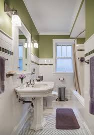 Дизайн ванной в зелёном цвете